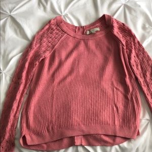 Loft sweater with button back